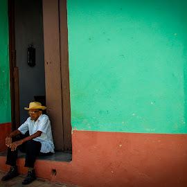 Cuban Man by Joe Adams - People Street & Candids ( street, portrait, man, hat, cuba )