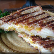 Toasted Whole Grain Apple Cheddar Panini