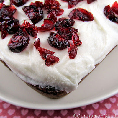 White Chocolate Cranberry Bread with Cream Cheese Frosting