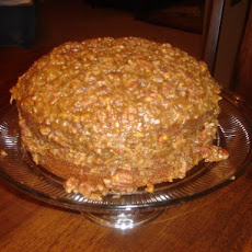 Autumn Spice Cake With Sticky Coconut-Pecan Icing