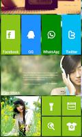 Screenshot of Launcher8 theme Beautiful girl