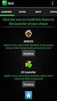 Screenshot of Slick Launcher Theme Green