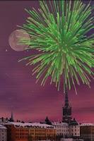 Screenshot of City Fireworks Live Wallpaper