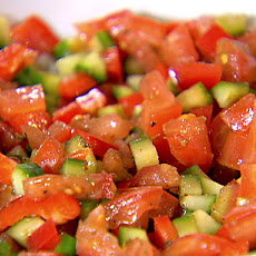 Tomato, Cucumber, and Red Pepper Relish