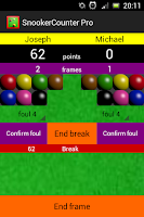 Screenshot of Snooker Counter