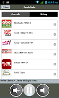 Screenshot of Bangla Radio (FREE)