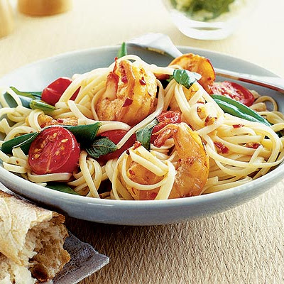 Chilli Prawn Linguine
