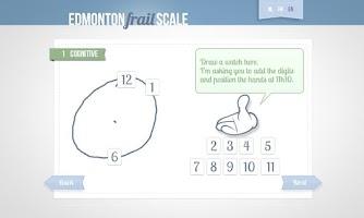 Screenshot of Edmonton Frail Scale