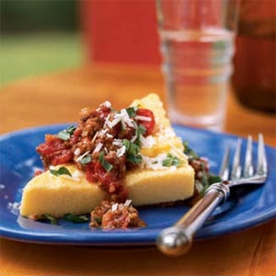 Polenta with Bolognese Sauce