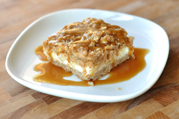 Caramel Apple Cheesecake Bars with Streusel Topping Recipe | Yummly