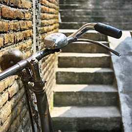 old break by Nino Shindhu - Transportation Bicycles ( #old #bike #jogja #watercastle #stairs #indonesia #traditional #village )
