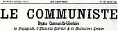 Le Communiste, masthead 1908
