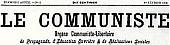 Le Communiste, masthead 1908