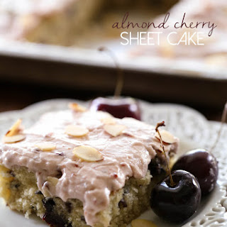 Almond Cherry Sheet Cake