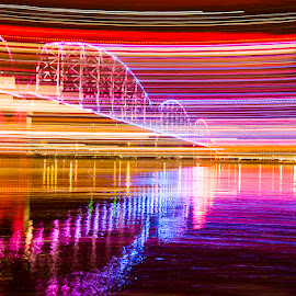 by Terry Fultineer - Abstract Light Painting ( night photography, long exposure )