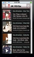 Screenshot of One Direction Fan app