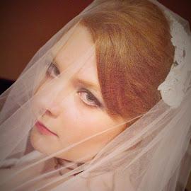 Sultry Beauty by Alli Hurley - Wedding Bride ( beautful bride, sexy, red hair, weddings, bride,  )