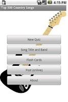 Screenshot of Top 500 Country Music Quiz
