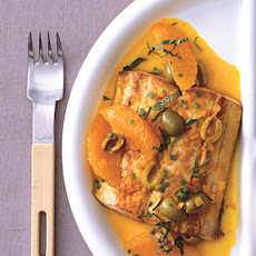 Pan-Seared Mahi-Mahi with Oranges and Olives