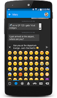 Screenshot of Textra SMS iOS Emojis