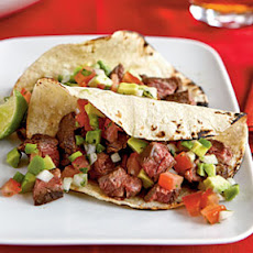 Carne Asada Taco with Avocado Pico de Gallo