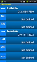 Screenshot of Thumb Dialer