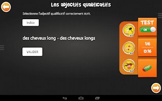 Screenshot of iTooch Français CM1