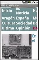 Screenshot of PRENSA ARAGONESA
