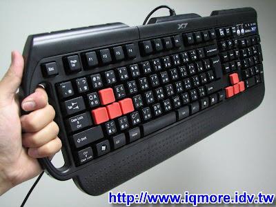 雙飛燕(A4tech) X7 電競薄膜鍵盤G-700 評測