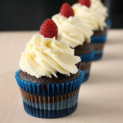 Mocha Cupcakes with White Chocolate Whipped Cream
