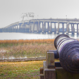 Cannon and Bridge by Keith Wood - City,  Street & Park  Historic Districts ( kewphoto, park, bridge, cannon, keith wood )