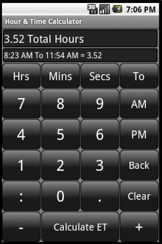 Hour Elapsed Time Calculator