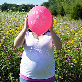 Gender Reveal by Brittany VanTienen - People Maternity ( maternity, girl, baby girl, pink, photography )