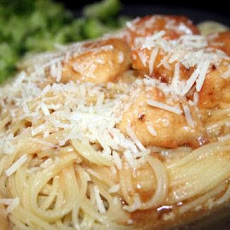 Lemon Garlic Chicken over Angel Hair Pasta