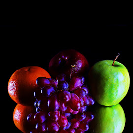 healthy diet by Leo Angelo Ignacio - Food & Drink Fruits & Vegetables ( red apple, ora, grapes, green apple )