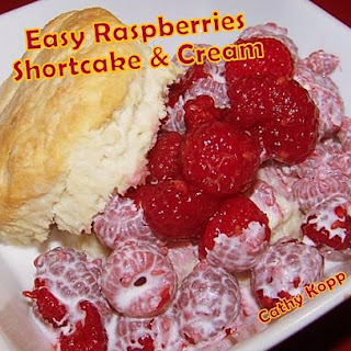 Easy Raspberries, Shortcake & Cream