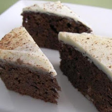 Cappuccino Brownies with White Chocolate-Espresso Sauce