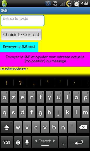 SMS avec ma position