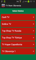 Screenshot of TV from Slovenia