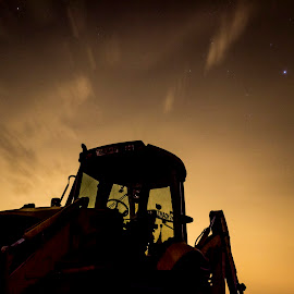 TLB at night by Hilton Viney - Artistic Objects Industrial Objects ( canon, clouds, eos, night photography, stars, tlb, 600d, nightscape )