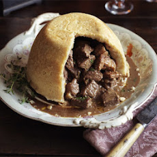 Steamed venison & Port pudding