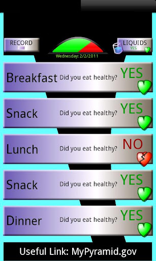 Yes No Diet Tracker FREE