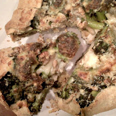 Roasted Broccoli and Walnut Galette