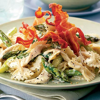 Farfalle With Chicken, Asparagus & Pancetta