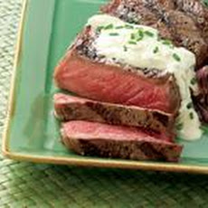 Marinated Strip Steaks With Gorgonzola Sauce