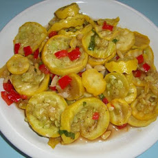 Roasted Red Bell Pepper Zucchini & Yellow Squash