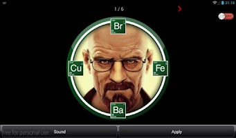 Screenshot of BREAKING BAD SOUND-CLOCK