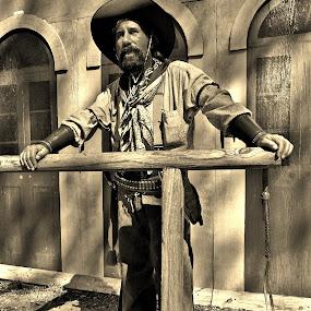 Ike Clanton by Lisa Montcalm - People Portraits of Men ( cowboy, sepia, bandit, historical, west,  )