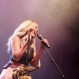 Candy Dulfer by Miljan Jovanovic - People Musicians & Entertainers ( music, concert, saxophone, jazz, singer )