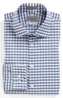 John W. Nordstrom Signature Trim Fit Check Dress Shirt